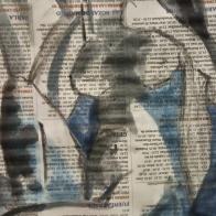 Tinta china sobre periódico ESCUELALIMÓN Aravaca-14
