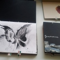 Cuadernos de viaje artesanales exposición de Navidad ESCUELALIMÓN Aravaca_06