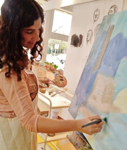 Mimí Torres profesora en ESCUELALIMÓN Aravaca Clases de arte pintura y dibujo para niños y adultos